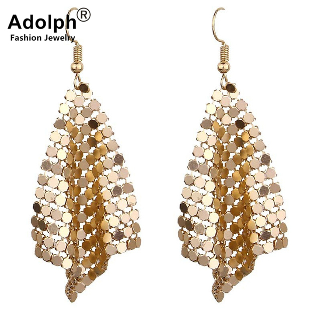 adolph Star Jewelry Charm Sequin Drop Earrings New Geometric Round Shiny Dangle