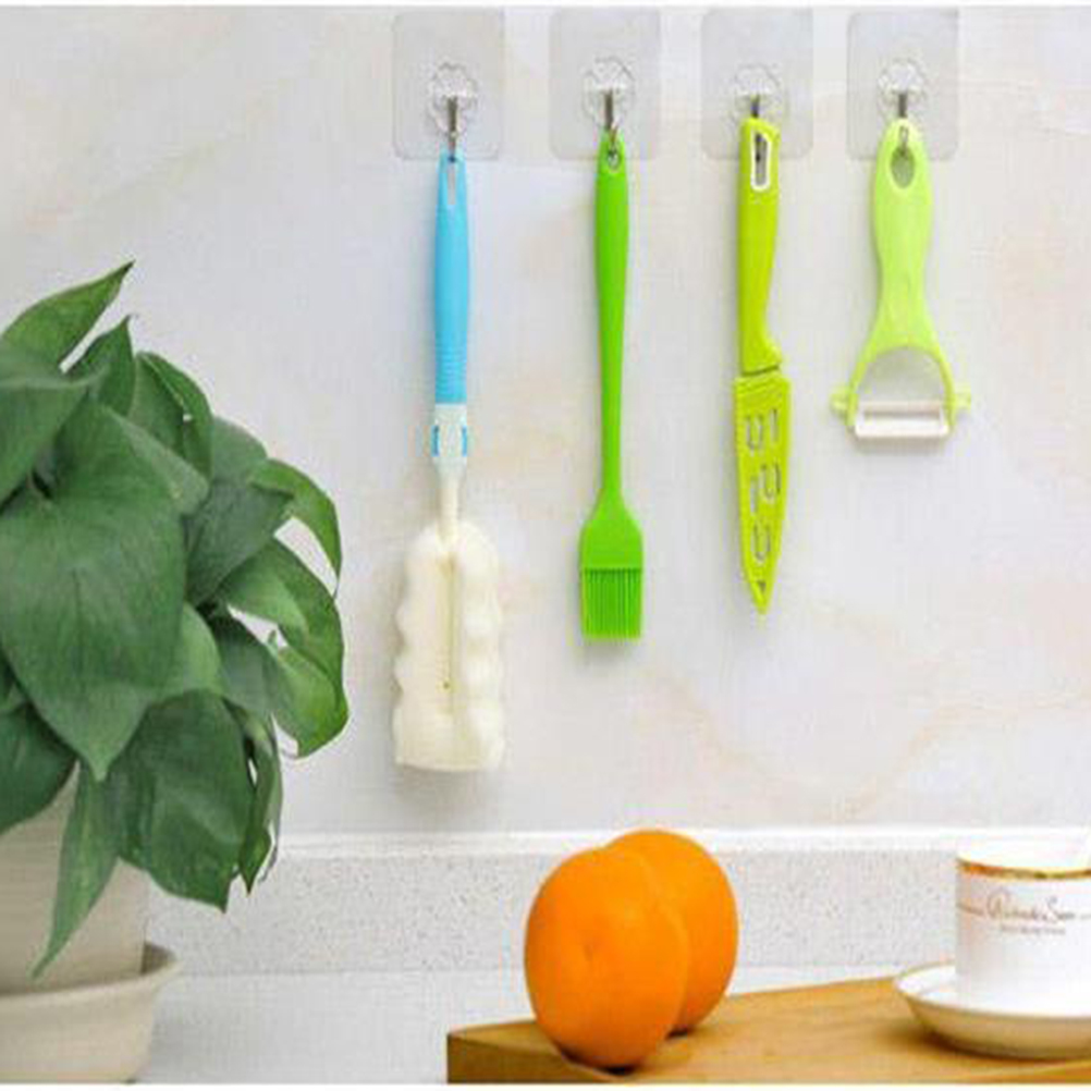 10 шт. настенные крючки без ногтей прозрачный липкий клей для тяжелых полотенец потолок для ванной