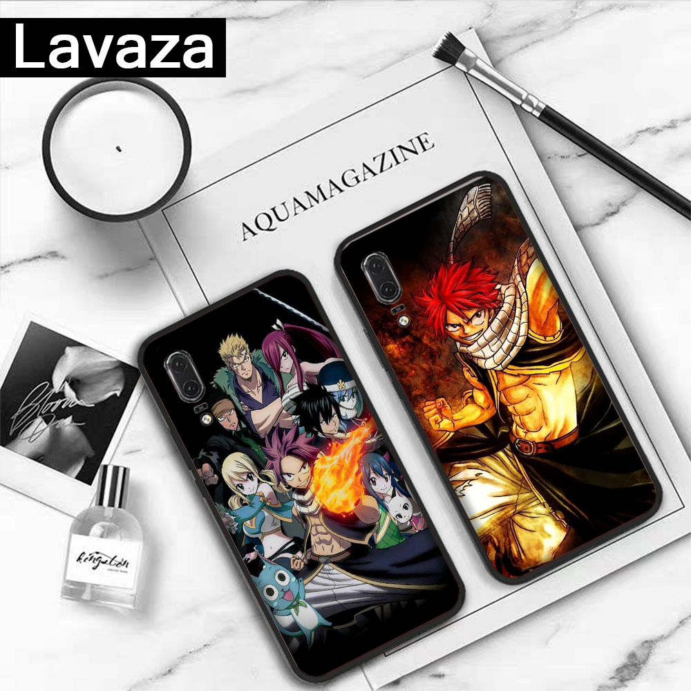 Lavaza Anime Manga Fairy Tail Silicone Case for Huawei P8 Lite 2015 2017 P9 2016 Mini P10 P20 Pro P Smart 2019 P30 in Fitted Cases from Cellphones Telecommunications
