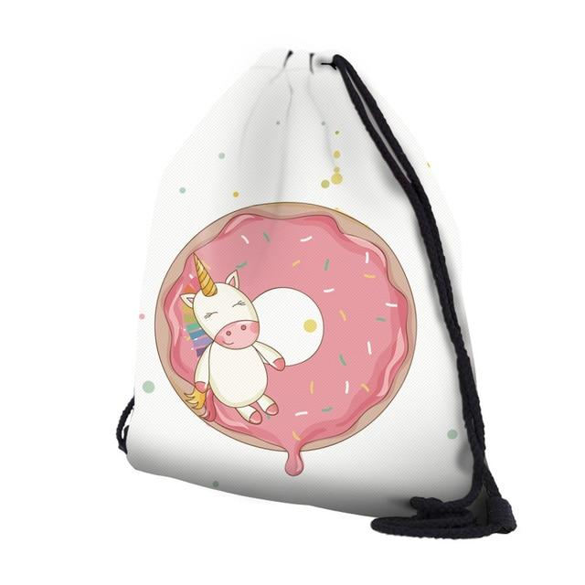 3D Printing Unicorn Drawstring Bags And Cosmestic Bag