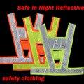 Nova Moda Neon lime amarelo colete reflector roupas V cinto impressão artigo Seguro em Noite de Segurança de alta visibilidade Reflexiva