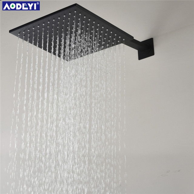 Aodeyi Black Br Rainfull Shower Head 12 Inch Bathroom Faucet Replace Ceiling Mounted Round