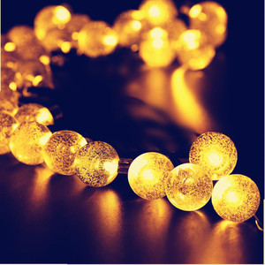 Image 5 - 5M 6.5M 7M 12M LED Solar Globe Bubble Ball String Lights 20/30/50/100LEDs Outdoor Waterproof Christmas Decor Ball Light String