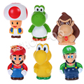 6pcs/set Super Mario Wario Action Figures PVC Doll Model Toys Japan Anime Toys Collections With Nice Package #E