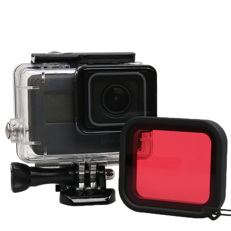 waterproof Case Red Diving Filter lens Dive Underwater Lente Filtors Protector For Go pro Hero Black 5 6 7 Accessories
