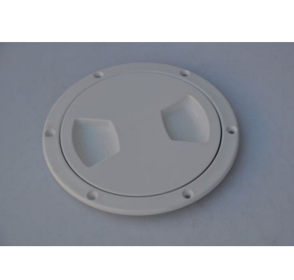 5-1//2 Inch White Pry Up Deck Plate for Boats
