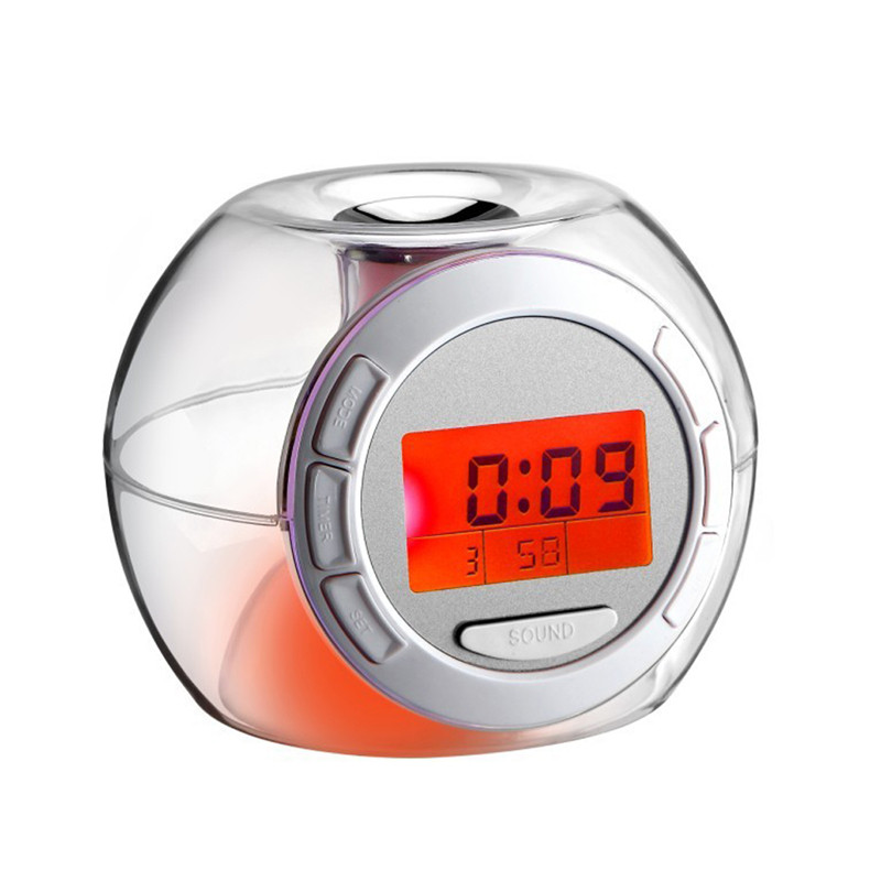 alarm clock transparent. aliexpresscom buy colorful natural sound alarm clock digital desk bedside transparent electronic gift for kids from reliable nature