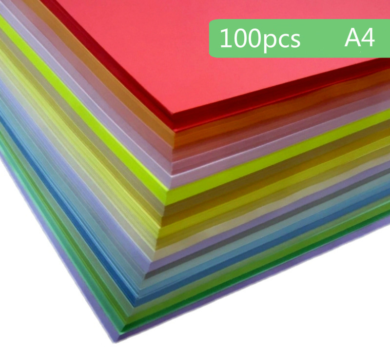 Multi-color Marie A4 Color Copy Printing Paper Origami Paper 80g Children Handmade Paper 100pcs/lot