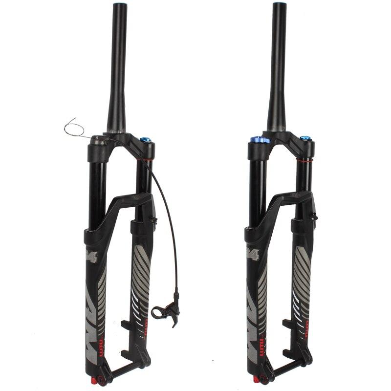 Bicicleta garfo ar 26 27.5 29 ER Cônicos Eixo Passante QR MTB montanha suspensão garfo óleo resiliência ar linha de amortecimento bloqueio para mais de