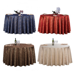1PC Red/Blue/Coffee 7 Colors Europe Luxury Polyester Gold Leaf Tablecloth Round For Wedding Party Decor Hotel Table Cloth Cover