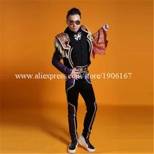 New Arrival Men Stage Ballrooom Costume TV Show Ballroom Man Clothing Party Halloween Performance DJ Singer