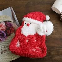 Nuovo Natale Scatola Zip Rosso Piccola Moneta Borsa Della Moneta Del Raccoglitore Titolare Sacchetto di Natale Sacchetto Chiave Del Capretto Della Ragazza Regalo