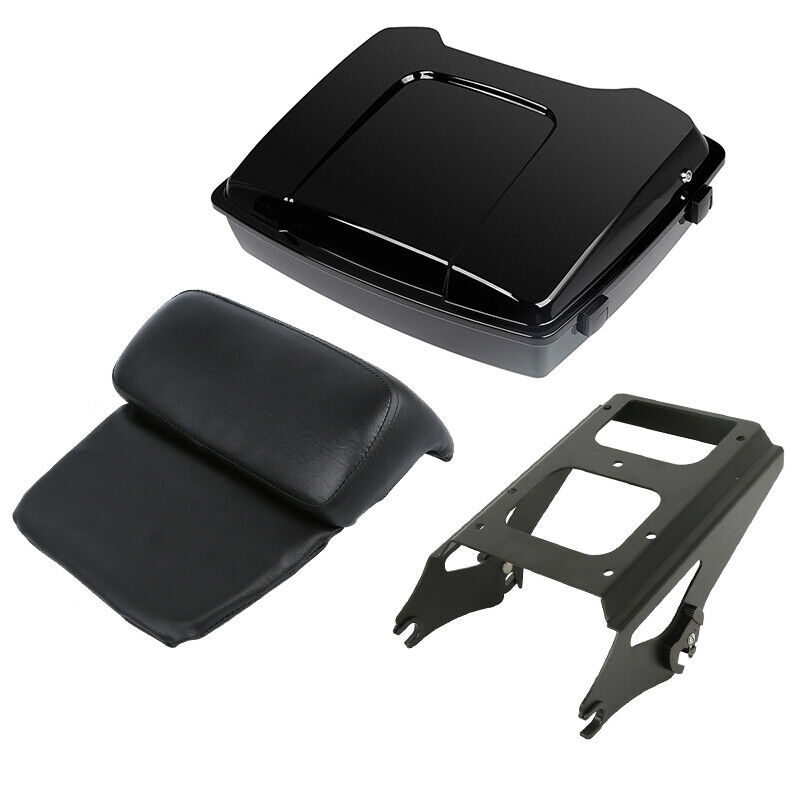 "Image 2 - Motorcycle Painted 5.5"" Razor Tour Pak Pack Trunk 2 up Mount Rack For Harley Touring Road King Road Electra Glide 2009 2013"