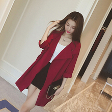 2019 Spring AutumnWomen Trench Coat Casual Women Cardigans W
