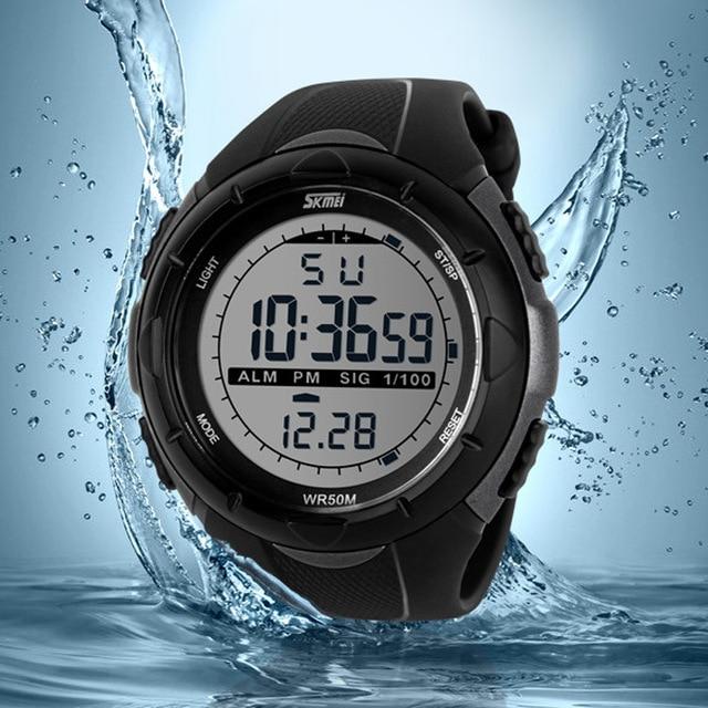 ae79602632d Relógio Masculino À Prova de Água Relógio Esportivo Masculino Led Digital Relógios  Masculinos Marca Luxuosa Casual