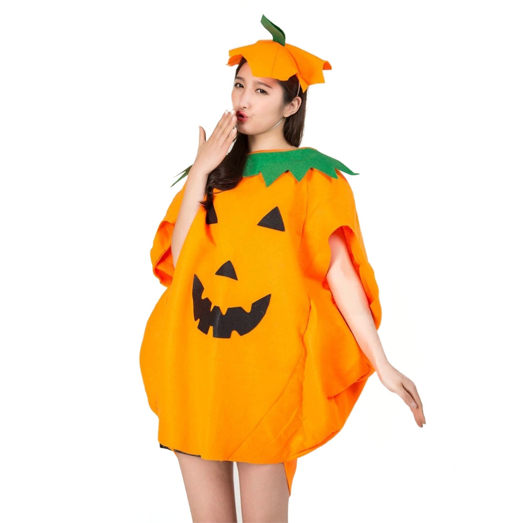 1530f7af820 US $7.92 25% OFF|2018 New Party Supply Cosplay Halloween Pumpkin Costume  Adult Child Cloth Hat Suit Fancy Cloak pumpkin for Family Party Outfits on  ...