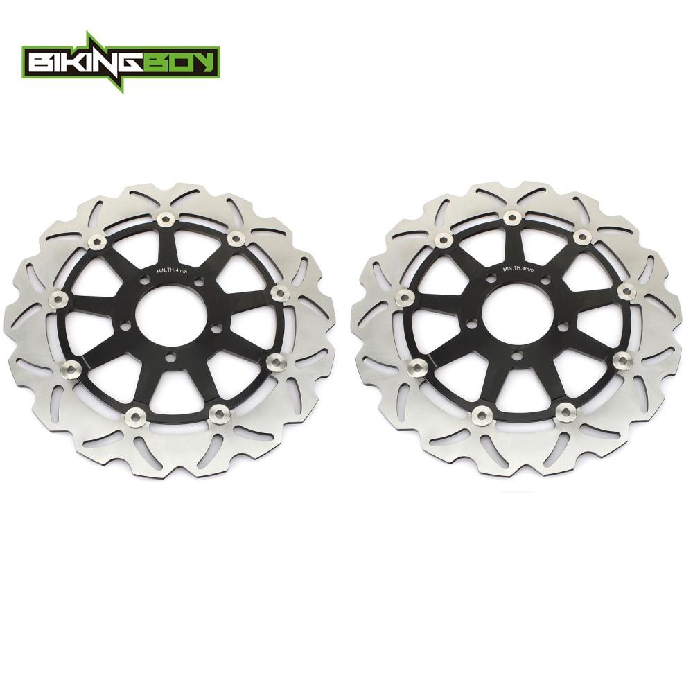 BIKINGBOY For SUZUKI GSXR 600 1997 2003 GSX R 750 1996 2003 GSXR 1000 K1 K2 GSX 1400 2001 2008 Front Brake Discs Disks Rotors-in Brake Disks from Automobiles & Motorcycles    1