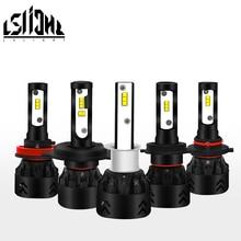 купить LSlight Auto bulb h4 h7 h8 h11 9006 9005 hb2 hb3 hb4 car led headlight 6000k 9600lm 55w 12v automobile canbus turbo carro light по цене 2038.68 рублей