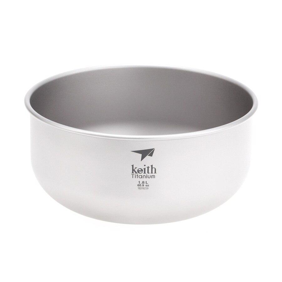 Keith 1.8L Titanium Big Bowl Large Soup Salad Bowls Hiking Travel Tableware Ti8701 bai lin tong oil soup diet bailingtong oil tang zhengpin lotus soup a bowl of oil stocks blue tea soup page 6
