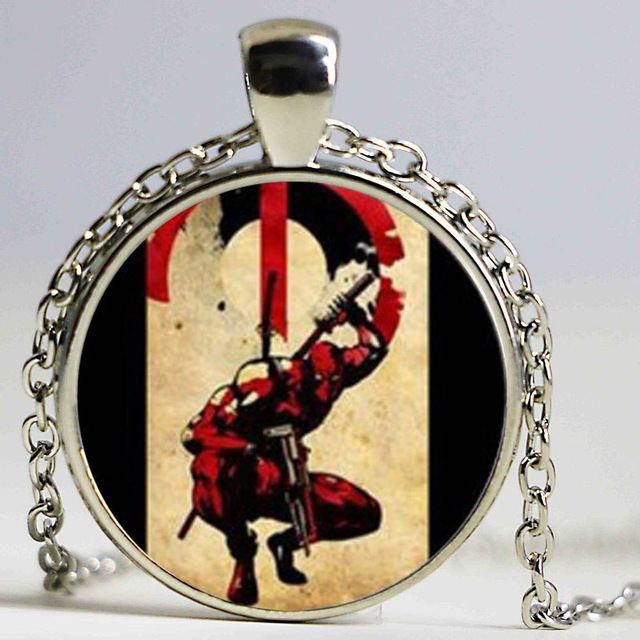 Wholesale glass dome pendant necklace deadpool necklace deadpool wholesale glass dome pendant necklace deadpool necklace deadpool symbol pendant personalized picture necklace mozeypictures Image collections