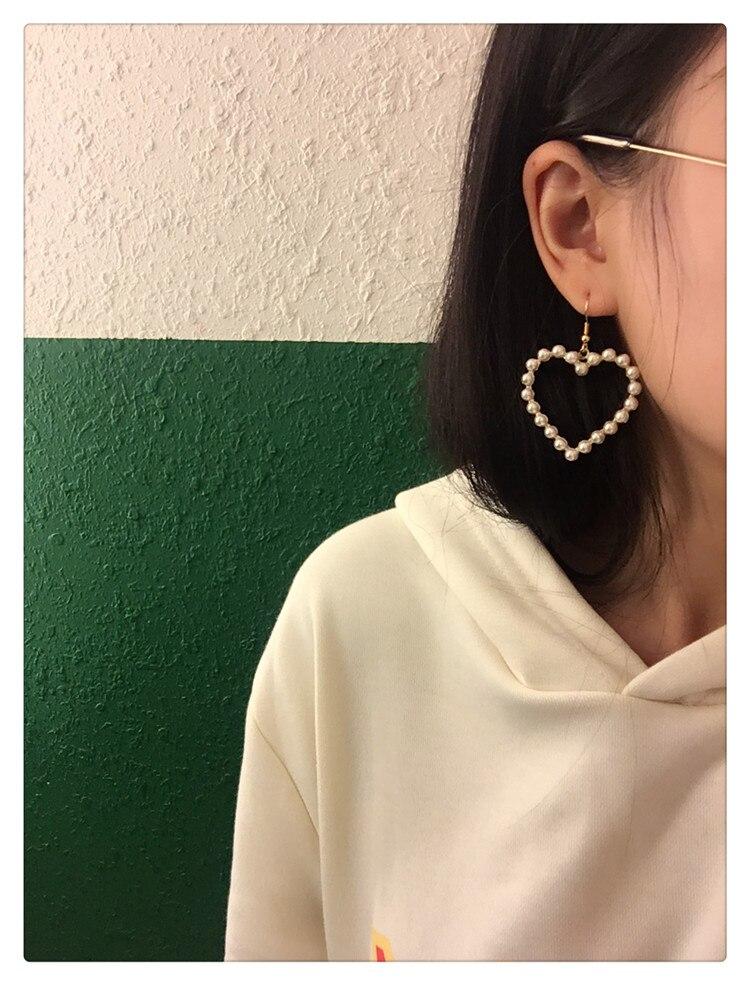 Prachtige harten van pareloorbellen Heet smelten Heerlijk uitgehouwen - Mode-sieraden - Foto 6