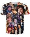 Последнее высокое качество мужская С Коротким Рукавом Футболки Уникальный camisetas Мужчины/Женщины One Direction гарри стили Хорошее качество 3D т. ш.