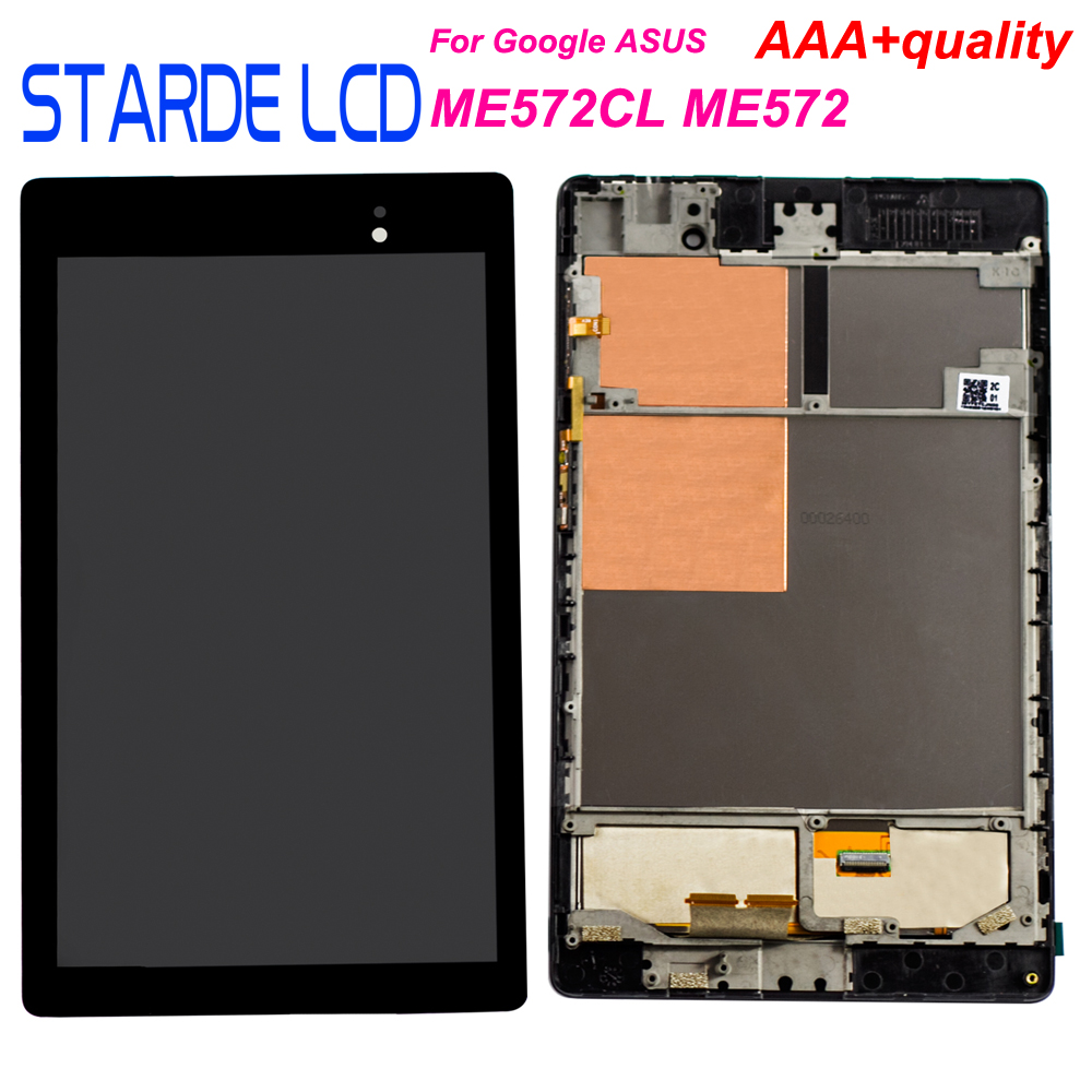 Starde <font><b>LCD</b></font> für <font><b>Asus</b></font> Google <font><b>Nexus</b></font> <font><b>7</b></font> 2nd Gen <font><b>2013</b></font> ME572 ME572CL <font><b>LCD</b></font> Display Touchscreen Digitizer Montage mit Rahmen image