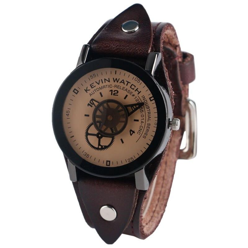 KEVIN quartz horloge unieke versnelling wijzer handen tandwiel - Herenhorloges