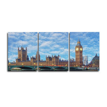 3 Panel Abstract Sky London Posters and Prints Canvas Painting Wall Artqork for Home Decor Living Room Decoration No Frame(China)