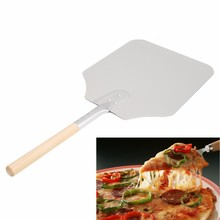 Stainless Steel Cake Shovel Baking Tools Wooden Handle Pizza Shovel Cheese Cutter Peels Lifter Tools Cheese Shovel