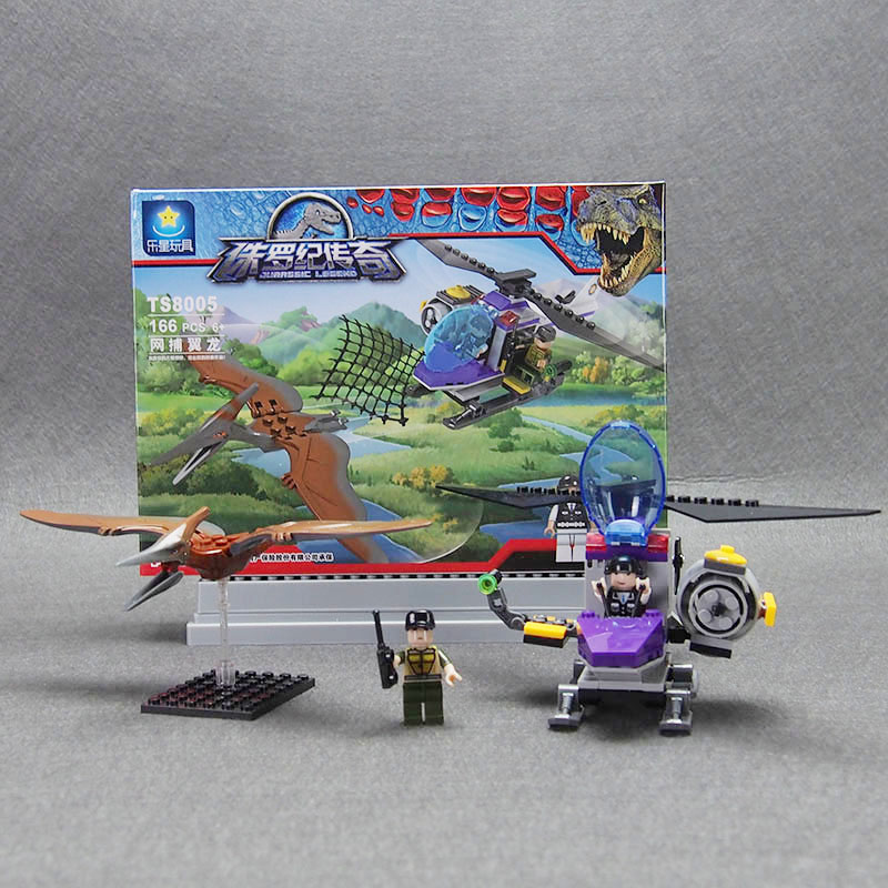 Jurassic World dinosaur toys weapon Mini Figures Building Blocks Brick Jurassic movie Compatible lepines toys for children 2 sets jurassic world tyrannosaurus building blocks jurrassic dinosaur figures bricks compatible legoinglys zoo toy for kids