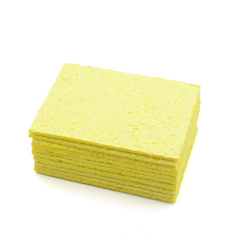 5 10 sztuk żółty gąbka do czyszczenia do czyszczenia na trwałe spawanie elektryczne lutownica tanie i dobre opinie 5 1*3 5cm 2 01 *1 38 Yellow Cleaning Sponge Cleaner