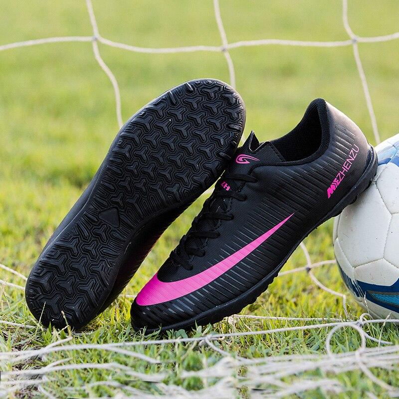 b7b2c3ef80 ZHENZU chuteira futebol original tenis futsal chuteiras futebol soccer  shoes Eur tamanho 35 44 Preço barato de alta qualidade em Sapatos de futebol  de ...