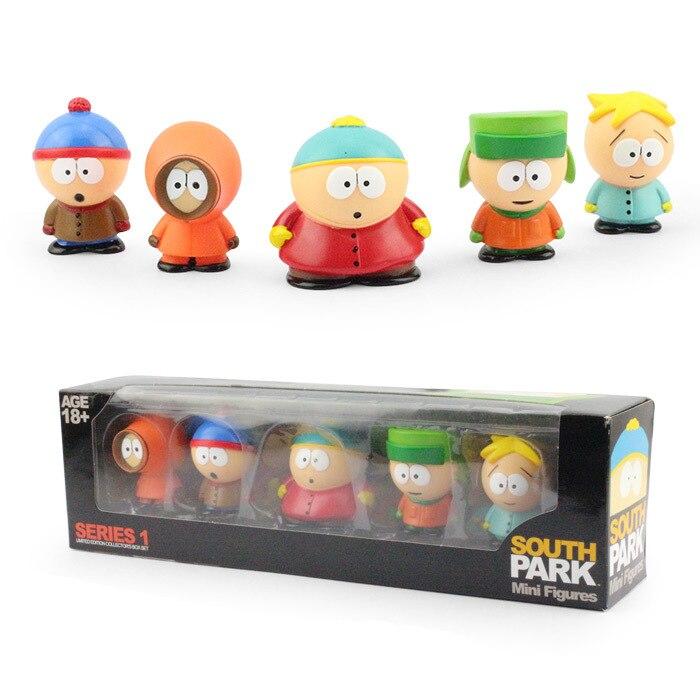 Anime South Park Stan y Kyle Eric Kenny leopardo 6 cm PVC figura de acción de colección modelo de juguete regalos de los niños KT449