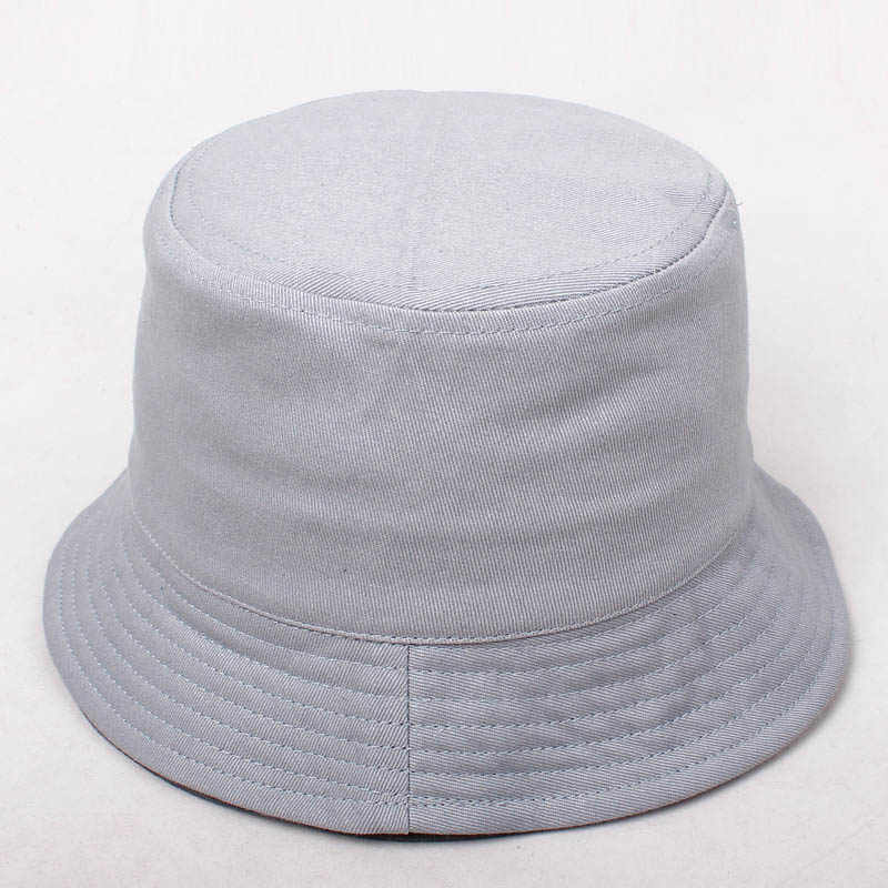 762d4513feb Fashion Sunscreen Kid Girls Bucket Hat Boy High Quality Cotton Simple Caps  Summer Autumn Solid Color