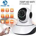 HSmart HD 720 P Sem Fio WiFi P/T Câmera IP Monitor Do Bebê Wi-fi Onvif IR-Cut IR SD Card Record P2P Câmera de Vigilância de Áudio e Vídeo