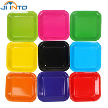 Candy color Diy creative Colored paper plates 7 inch disposable Rectangular plate Wedding Birthday Festival Party  sc 1 st  AliExpress.com & Buy candy paper plates and get free shipping on AliExpress.com