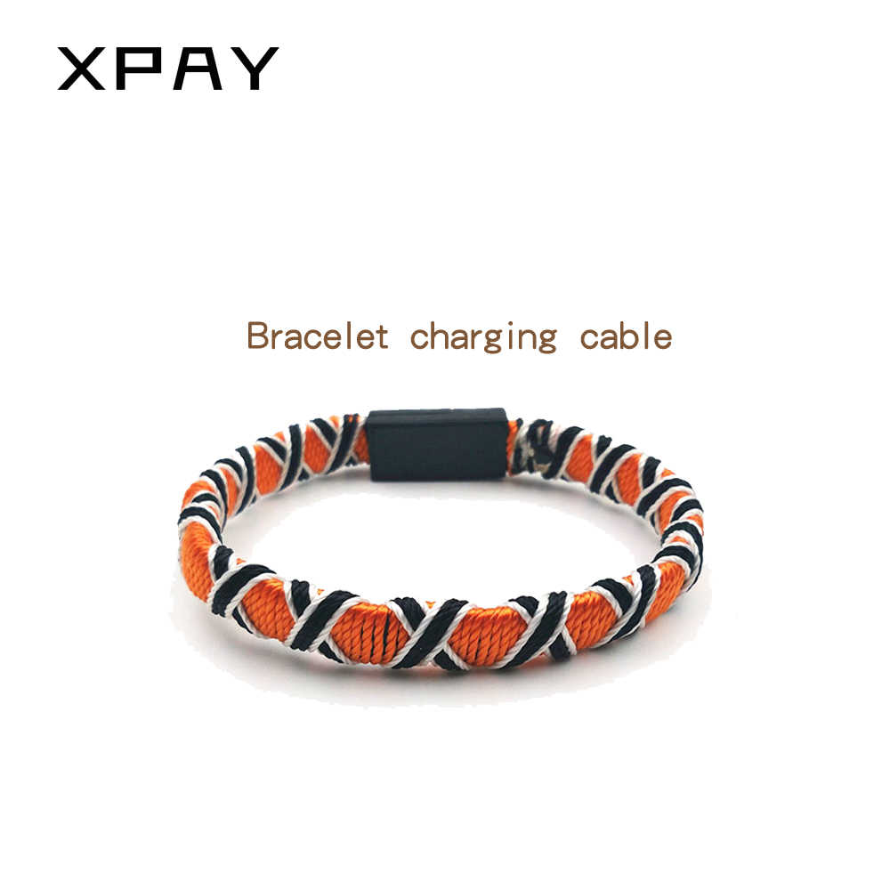 weaving ethnic wind bracelet data cable bracelet gift charging cable for type-c huawei for Android xiaomi for iPhoneX XR 8S plus