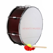 24 inch Burgundy Afanti Music Bass Drum BAS 14210