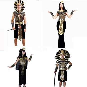 Da Menina do menino Das Mulheres Dos Homens Amantes Faraó Do Egito Antigo Rei Rainha Cosplay Traje Trajes de Desempenho Festa de Purim Carnaval Dia Das Bruxas