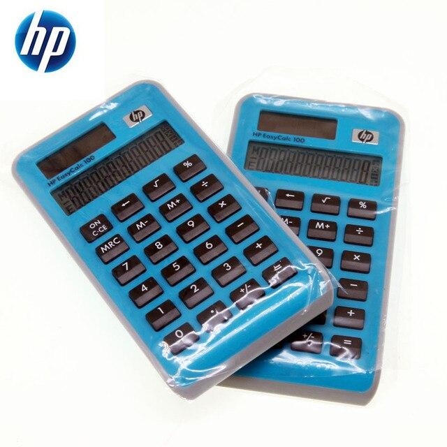 1pcs 2018 New HP Limited style Original Genuine Solar Portable Calculator EasyCalc100 Super Good Feel School Office Supplies