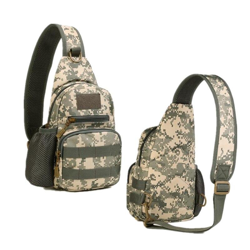 Prix pour Épaule militaire sac tactique taille sac pour IPAD mini poitrine pack nylon équitation sac à dos Messenger sac homme