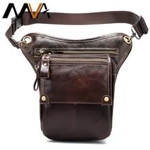 MVA deri komik bel paketleri bırak bacak çanta kemer kılıfı erkek motosiklet bacak çantası hakiki deri telefon kılıfı erkek kalça paket 3237