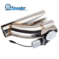 ESPEEDER High Performance 3.0 Stainless Steel Headers Y Pipe Electric Exhaust CutOut Cut Out Kit Car Exhaust Catback Down Pipe