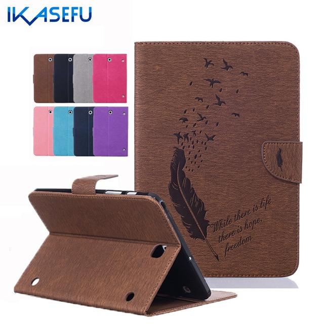 """Роскошный Кожаный Чехол Case для Samsung Tab S2 SM-T715 T710 Case 8.0 """"дюймовый Коке Fundas Стенд Shell для Galaxy Tab S2 T715 Перо"""
