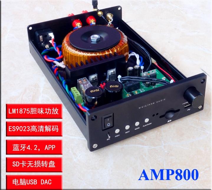 2019 brise Audio nouveau AMP800 LM1875/LM3886 amplificateur Audio domestique en option avec platine vinyle sans perte Bluetooth entrée analogique DAC