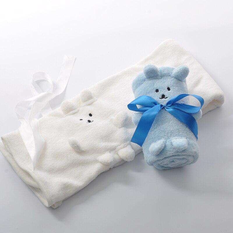 Franela felpa fluffy corte bordado de terciopelo mantas de bebé bebé ...