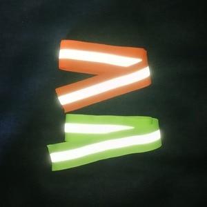 Image 2 - 50mm x 15mm * 3 Metro/lote, tela reflectante Oxford cinta de coser, cosido en cinta reflectante para bolsas para ropa alta visibilidad