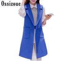 412999dec3 Plus Size Summer Brief White Female Vest Long Slim Female Waistcoats Spring  Cardigan Sleeveless Coat Large