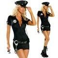 Disfraces de halloween para mujer policía cosplay dress sexo policewomen uniforme cop sexy traje traje de baile más el tamaño s-2xl
